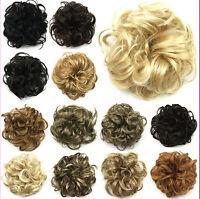 Fashion Women Lady New Pony Tail Hair Extension Bun Hairpiece Scrunchie