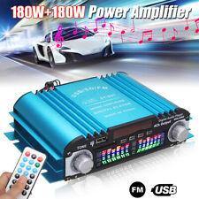 360W 4 Channel 12V Mini Digital Audio Stereo Amplifier USB SD FM +Remote Control