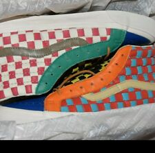 Vans OG SK8-HI LX 50th Anniversary Mens Size 8 Leather Woven Checkerboard Check