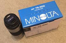 Minolta AF 75-300mm / 4.5-5.6 (D) Camera Lens