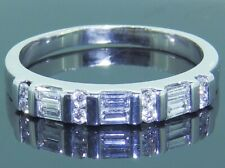 18CT WHITE GOLD 0.3CT BAGUETTE  ROUND  DIAMOND ETERNITY BAND RING 18 CARAT P