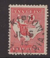 Victoria SKIPTON unframed cancel on 1d red Kangaroo