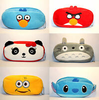 Panda Totoro Stitch Rabbit Novelty Cute Student Pencil Case Purse Cosmetic Pouch