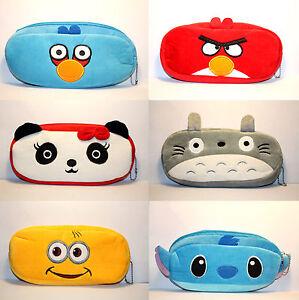 Panda Totoro Stitch Rabbit Novelty Cute Student Pencil Case Purse Cosmetic Pouch