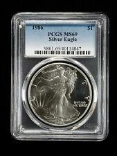 1986 American Silver Eagle $1 Pcgs Ms 69