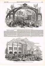 1850 festejos en Chippenham queso Mercado León cuajada Interruptor de prensa para queso