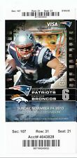 2013 NEW ENGLAND PATRIOTS VS DENVER BRONCOS TICKET STUB 11/24 TOM BRADY MANNING