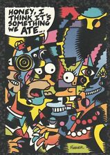 SIMPSONS  ARTY ART CARD A1 HONEY I THINK ITS SOMETHING I ATE  BY SKYBOX SERIES 2