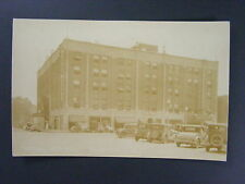 Newton Iowa IA Hotel Maytag Capitol Theatre Cars Real Photo Postcard RPPC c1930