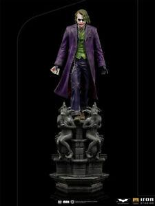 IRON STUDIOS DC COMICS BATMAN THE DARK KNIGHT THE JOKER 1:10 DELUXE STATUE ~NEW~