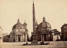 ROME c. 1870 - Piazza del Popolo Italie  - 46