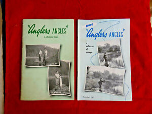 """2X VINTAGE MILWARDS """"ANGLERS ANGLES"""" ADVERTISING BOOKLETS (1X DECEMBER 1954)"""