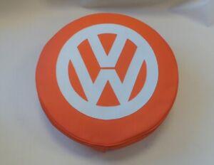Madmatz Quality Volkswagen VW T2 BAY Window Spare Wheel cover Orange & Off White