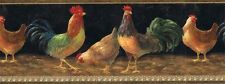 KITCHEN COUNTRY ROOSTERS BIRDS Wallpaper Border TH29002B