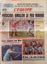 L'Equipe Journal 9/09/1987; Equipe de France espoirs/ Moscou/ Boyer/ Collard