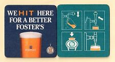 """NEW Coaster or mat of Foster's Beer. """"We HIT here for a better Foster's"""""""