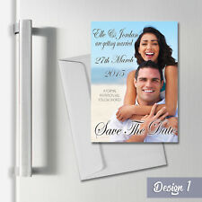 Personalised Wedding Save the Date Magnets + Envelopes A6 Magnetic Fridge Cards