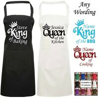 Queen of the Kitchen Personalised Apron King of the BBQ Baking Cooking Name