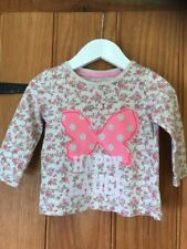 Next Lovely Baby Girls Butterfly Top Age 3-6 Months 100% Cotton
