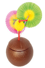 Hawaii Coconut with Lid. Cup Disposable Party Tableware