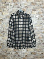 VINTAGE RETRO LONG SLEEVED MULTI CHECK CASUAL FLANNEL SHIRT SIZE MENS LARGE