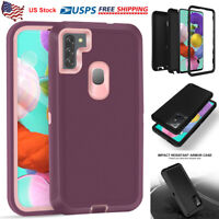 For Samsung Galaxy A71 A51 A11 A01 Case Shockproof Armor Cover Fit Otterbox Clip
