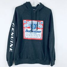 Bud Light Navy Logo Hoodie Large