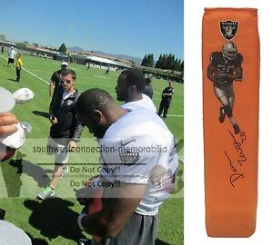 Darren McFadden Oakland Raiders Signed TD Football Pylon Proof of Autograph COA