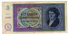 Bohemia & Moravia ... P-2a ... 5 Korun ... ND(1939) ... CH*F-VF*