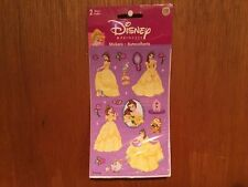 Disney's Princess Belle Stickers 2 Sheets *New*