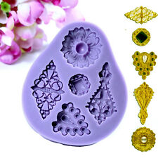 Cupcake 3D Vintage Jewelry Mould Mold Purple Silicone Fondant Cake Chocolate