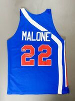 Moses Malone Signed Autographed Auto Jersey Utah STARS BAS & GILBERT ARENAS COA