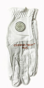 NEW Copper Tech White/White Women's All Weather One Size Fits All Golf Glove