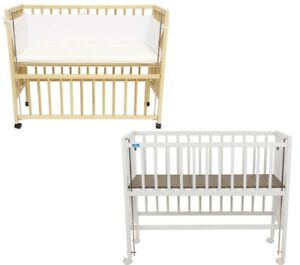 Beistellbett Cocon Fillikid Anstellbett Holz weiß natur Baby Bett Gitterbett
