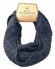 Aran Traditions Womans Ladies Men Winter Warm Knitted Style Navy Snood