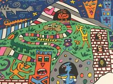 """James Rizzi: Unikat """"OUT OF THIS WORLD"""", V#35, handsigniert, 95, gerahmt kein 3D"""