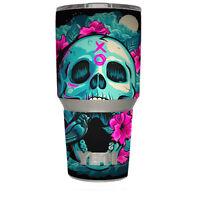 Skin Decal for Yeti 30 oz Tumbler Cup (6-piece kit) / Skull Dia De Los Muertos