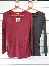 Polyester Crew Neck Stretch Tops & Shirts for Women