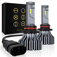 2X FANLESS 9005 HB3 LED Headlight Kit High Beam Super White Bulbs 6000K 9000LM