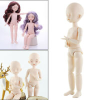 1/6 BJD Doll Girls Body With Head Sleep Eyes Dolls 28cm for Makeup Practice