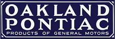 """Pontiac & Oakland Cars Marquee Style New Metal Sign: 6"""" x 18"""" Long - Ships Free"""