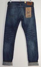 RRL RALPH LAUREN Indigo Blue GIAPPONESE CIMOSA Denim Slim Fit Jeans 30 x 34