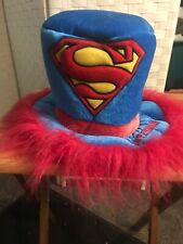 Plush SUPERMAN Top Hat Six Flags Halloween