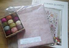 Rosewood Manor Summer Quakers Chart.Valdani threads.Linen.Worldwide shipping.