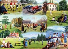 Gift Wrapping Paper Sport Football Cricket Rugby Golf Tennis Rowing Motor Racing
