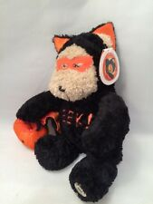 STARBUCKS HALLOWEEN EEK BLACK BAT BEARISTA BEAR STUFFED ANIMAL 2003 PLUSH NEW