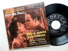 GUYS AND DOLLS Sung By MARLON BRANDO 45 WITH PIC JACKET
