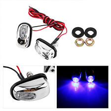 1pair Front Windshield Nozzle Wiper Washer Eyes Spray Auto 12V Blue LED Light BT