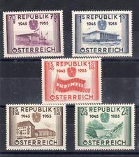 AUSTRIA : SERIE COMPLETO DE 5 SELLOS NUEVA YTN)845/849 Cara