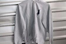 Men's Polo Ralph Lauren Running Jacket Gray Hooded Sz Small